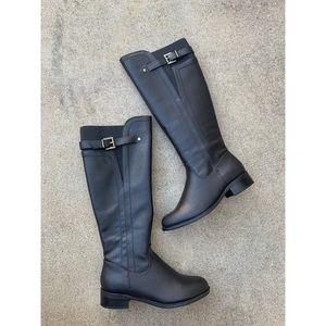 SODA Encina Black Riding Knee High Elastic Boots
